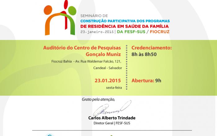 Seminário discute residências em Saúde da Família nesta sexta-feira