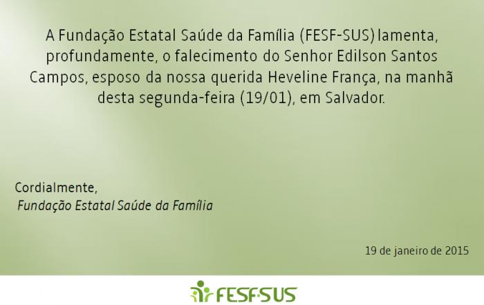 Nota de Pesar | Sr. Edilson Santos Campos