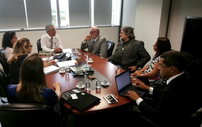 Diretores da ANFES participam de reunião no INSS