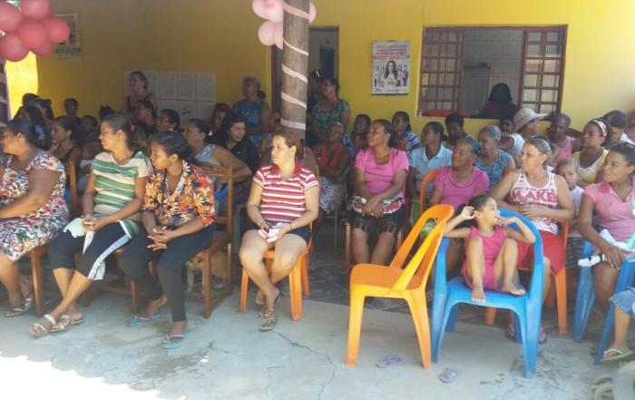 Ação reúne mais de 100 mulheres em evento do outubro rosa em Sitio do Mato