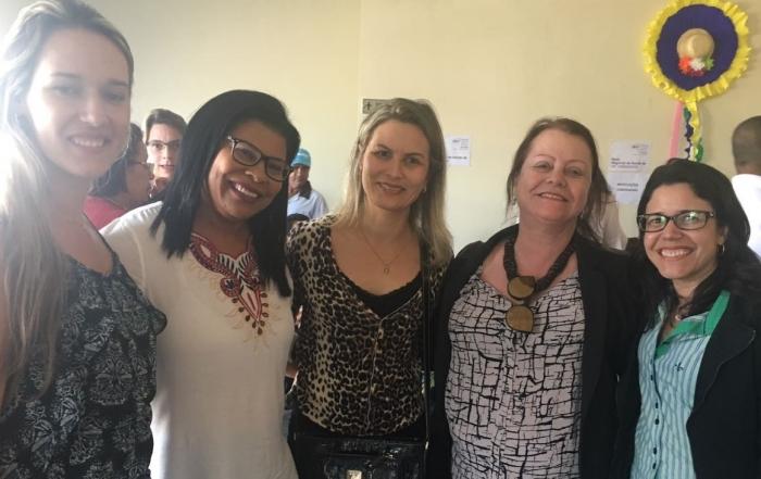 Trabalhadoras do Serviço de Apoio a Implementação do Parto Humanizado participam da 1ª Conferencia Estadual de Saúde das Mulheres do Sudoeste da Bahia.