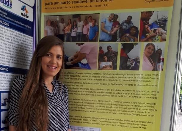 Enfermeira FESF-SUS apresenta experiência  com parto humanizado em Itaetê na Mostra Aqui tem SUS 2019