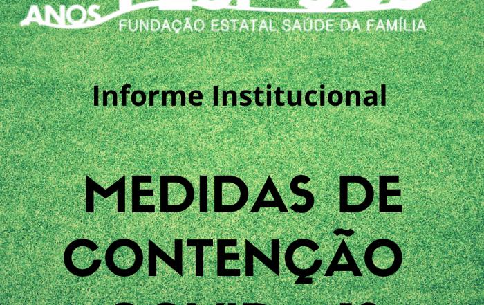 Medidas de contenção COVID -19